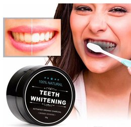 Wholesale Oral Care Kits - 100% Natural Organic Activated Charcoal Natural Teeth Whitening Powder Remove Smoke Tea Coffee Yellow Stains Bad Breath Oral Care 30g
