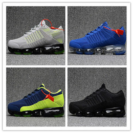 Wholesale max size - 2018 Vapormaxes Plyknit Running Shoes Men Trainers Tennis Vapor Maxes 2018 Kpu Shoes Man Homme Sport Authentic Sneakers Size 40-46