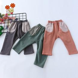 2019 calças do festival O festival de primavera e outono de 2018 nova versão coreana de algodão puro anel elástico cintura de crianças em um tridimensional desconto calças do festival