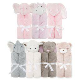 Wholesale Coral Plush - PROSEA Baby Coral Fleece Blanket Cartoon Rabbit Sheep Elephant Bear Plush Toy Newborn Bedding Soft Comfortable Blankets Kids Gift