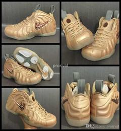 Wholesale sail shoes men - 2017 New Penny Hardaway Vachetta Tan Rose Gold Sail Men Basketball Shoes Hardaways Mens Sports Sneakers Trainers Basket Ball Shoe US 8-13