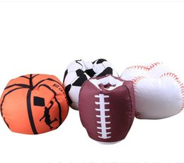 Wholesale Fabric Beanbag - 18 Inch Plush Toys Storage Bean Bag Football Basketball Baseball Multi Purpose Clothes Organizer Beanbag High Quality Canvas Pouch 28cw Y