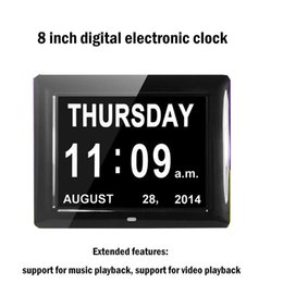 Wholesale Gift Cards Pictures - 8-inch single sided electronic calendar fashion picture frame calendar led gift album calendar digital photo frame