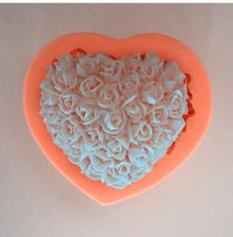 Wholesale Wholesale Gum Paste - Wholesale-Rattan Flower Cake shaped silicone cake baking gum paste decoration fondant paste soap mold form 1pcs