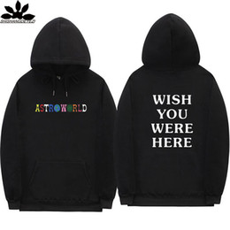 hollister hoodie Promo Codes - Travis Scott Astroworld hoodies fashion letter print Hoodie streetwear Man and woman Pullover Sweatshirt
