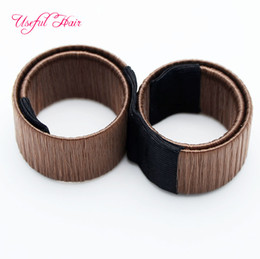 Wholesale Diy Hair Styling - cheap hair magic tools French Hair Ties Girl Hair Diy Styling Donut Former Foam Twist Magic Tools Bun Maker Black Coffee for women