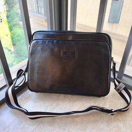 3b746d8d2922 New Hot Sale Men Shoulder Briefcase Black Leather Handbag Business Men  Laptop Bag Messenger Black Bag
