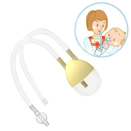 Wholesale Straw Suction - New Born Baby Safety Nose Cleaner Vacuum Suction Nasal Aspirator Bodyguard Flu Protection Accessories BM