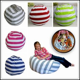 Wholesale Green Baby Bags - 5 Colors 16 inch Storage Bean Bags Beanbag Chair Kids Bedroom Stuffed Animal Organizer Plush Toys Buggy Bags Baby Play Mat CCA9026 30pcs