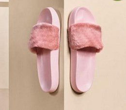 Argentina Fenty Rihanna Shoes Women Slippers Sandalias de interior para niñas New Colors Fashion Scuffs Pink Black White Diapositivas de piel gris sin caja de alta calidad supplier new indoor shoes Suministro