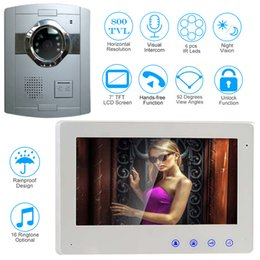 Wholesale Door Monitor Apartment - 7 inch Wired Video Door Phone Door Bell Intercom System Kit with Night Vision Outdoor Monitoring for Apartment