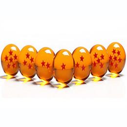 Estrela de dragonball concluída on-line-Animação DragonBall 7 Estrelas Bola De Cristal 4.5 cm Novo Na Caixa de Dragon Ball Z conjunto completo de brinquedos 7 pçs / set 20 conjuntos