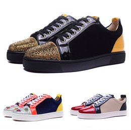 Wholesale french diamonds - Wholesale French famous brand men and women sports shoes high quality low help casual shoes color matching toe diamond