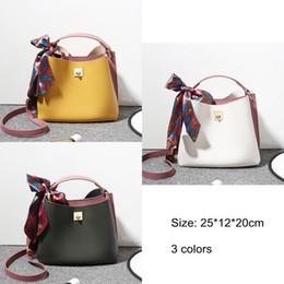 28e0a99e66f8 2018 Spring Summer Ribbon Bucket Handbag Female Fashion Bolsa Ladies Tote  Crossbody Bags for Girls Women PU Leather Shoulder Bag