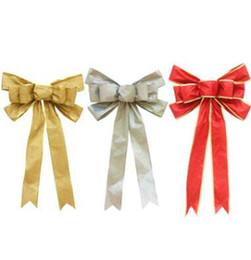 glitterband großhandel rot Rabatt Großhandelsrot, Silber, Gold, Funkeln, goldenes Zwiebel-Puder, 33 * 55cm Weihnachtsband, Querbinder, Weihnachtsbaum-Dekorationen