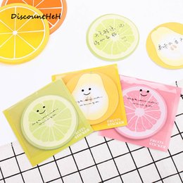 paper fruit notes Promo Codes - 1set Korean Kawaii Paper Cute Fruit Sticky Notes Stationery Stickers Scrapbooking Notepad Memo Pad School Supplies