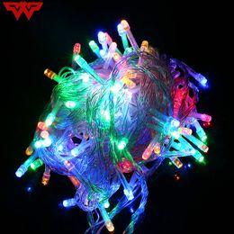 Led String Light 10m 100led 110v Us 220v Eu Colorful Holiday Led Lighting Waterproof Outdoor Decoration Light Christmas Light