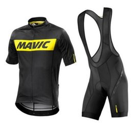Wholesale gel sets - MAVIC Pro Summer Cycling Jersey Sets 9d Gel Padded Bike Shorts Breathable Pro Cycling Clothing Jersey Maillot Ciclismo Green