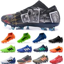 60d8a917f Zapatillas de fútbol para hombre de la Copa del mundo 2018 Nemeziz Messi  18+ 360 Agility FG Hombres de fútbol Botines de fútbol de diseñador Nuevos  zapatos ...