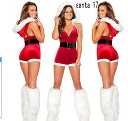 Wholesale Santa Costume Adult - Hotsale Sexy Christmas Santa Claus Costume Velvet Faux Fur Mrs Xmas Cosplay Fancy Dress Adult Women Mini Dress Lingerie For Women Free Ship