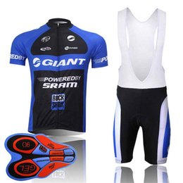 bd3c89796 2018 Giant new summer mountain bike short sleeved cycling jersey kit  breathable quick-dry men and women riding shirts bib shorts set 10429J