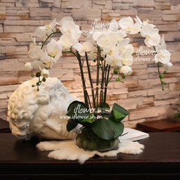 disposizione del fiore dell'orchidea Sconti Artificial Orchid Flower Arrangement Bonsai Flower Only No Vase Home Decoration Fiori decorativi Ghirlande New Hot