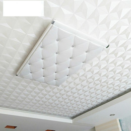 Suspended Ceiling 3d Wallpaper Classic Home Decor Diamonds Pattern Bedroom Background Wall Stickers White High Grade 29of Ww