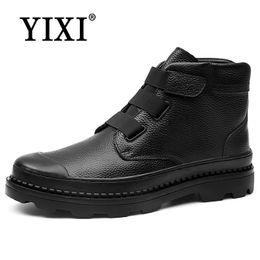 e6ac178c78ac YIXI Big Size 38-46 Oxfords Leder Männer Schuhe Mode Wohnungen Monk-straps  männlichen Echtem Leder freizeitschuhe Black Bluchers mönchriemen  Werbeaktion