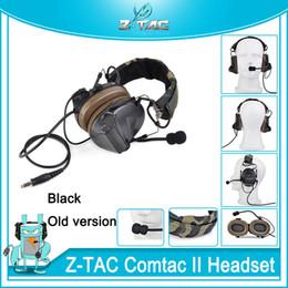 Z-TAC тактический C2 камуфляж гарнитура zComtac II гарнитура шумоподавления охота наушники открытый связь Softair микрофон наушники от
