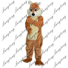 Wholesale squirrel mascot adult costume - 2018 New high quality Brown squirrel Mascot costumes for adults circus christmas Halloween Outfit Fancy Dress Suit Free Shipping