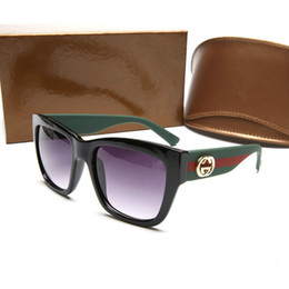 Marca grande de ojos online-Moda de alta calidad 0034 gafas de sol de las mujeres de marca de moda gran marco cuadrado ojo gafas diseñador de lujo con gafas de logotipo