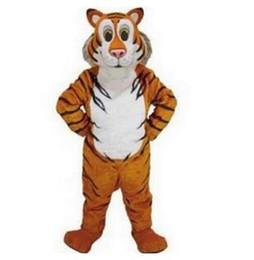 traje de mascote do tigre dos desenhos animados Desconto Filhotes de animais tigre Traje Da Mascote Tamanho Adulto Personagem de Desenho Animado Carnaval Partido Outfit Suit Fancy Dress free shippingAdult