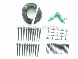 plastic stakes Promo Codes - Free shipping 20 contaier stake drip sprinkler gardening kits (FD933)