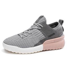 Wholesale 2018 new Air mesh respirant chaussures chaussures à lacets femme coton solide tissu femmes sneakers couture chaussures chaussures pour femmes couleurs JX
