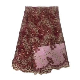 Argentina Nueva llegada de alta calidad de verano 9 colores costura patrones de tela de encaje diy mujeres diseños de vestidos de encaje Wedding Party vestidos de encaje de tela FCL1839 # Suministro