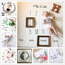 Bebê recém-nascido fotografia adereços de fundo do bebê foto tecido backdrops infantil cobertores envoltório letra flor números pano de impressão Y146 de
