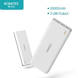 Wholesale External Battery Romoss - obile Phone Accessories Parts External Battery Pack 25000mAh ROMOSS Sense 9 External Battery Pack Power Bank 3 USB Portfor nokia lumia ba...