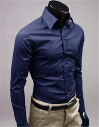 Nueva marca de moda Nvry azul Novio Camisas Camisa de manga larga Hombres Diseño delgado Formal Casual Camisa de vestir para hombre Tamaño M-5XL (C8002) desde fabricantes