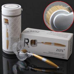 Deutschland ZGTS Luxux 192 Titan-Mikronadeln Therapie Derma Rooler Akne-Falten-Abbau Anti-age Hautpflege-Haut ziehen Schönheit Massager 1PCS frei fest Versorgung