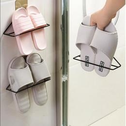 Estante de gancho montado en la pared online-Estante de zapato colgante montado en la pared soporte para zapatos colgante pegajoso estante de almacenamiento estante de almacenamiento organizador de pared soporte de almacenamiento de zapatos