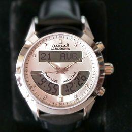 2019 relógios islâmicos Azan Watch islâmico orar tempo relógios muçulmano Ramdan presente relógios islâmicos barato