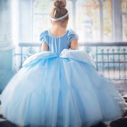 robes de style cendrillon pour les filles Promotion Robe de fille d'été pour enfants nouvelle robe de princesse Cendrillon Halloween robe tutu à manches courtes fille maille robe livraison gratuite