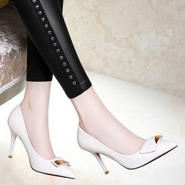 Wholesale office foot - Centenary tip of the shallow mouth to help low-heeled shoes feet pure color thin shoes with women's shoes