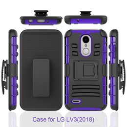 Wholesale Free Holster - USA hot sell holster stand case with clip for lg aristo 2 x210 lv3 2018 coolpad revvl plus belt case DHL free shipping
