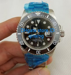 Wholesale watch men chronometer - AAA Mens Movement 2813 Glidelock Clasp Watch Men Ceramic Bezel Basel Dive Chronometer Date Full Steel Crystal Watches Sport Wristwatches