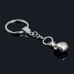 Wholesale ring box lover - 2018 new Sport Jewelry Boxing Glove Key Rings Metal Glove Pendant Keychain Rings Bag Hangs drop shipping Free shipping 170873
