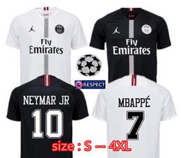 f51e6a957cfc Larger size XXL XXXL 4XL 2018 2019 Champion league psg Jordam soccer jersey  18 19 MBAPPE CAVANI POGBA VERRATTI DI MARI Paris Football Jersey discount  psg ...