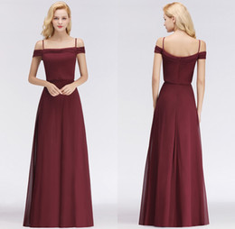 2018 New Designer Burgundy Chiffon Long Bridesmaid Dresses Floor Length  Custom Made Wedding Party Bridal Gowns 51636da2226b