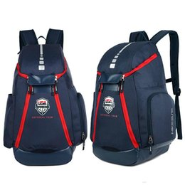 Сумка для баскетбольной обуви онлайн-Баскетбол рюкзаки новая олимпийская команда США пакеты рюкзак Мужские сумки большой емкости водонепроницаемый обучение дорожные сумки обувь сумки свободный корабль