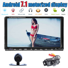 Wholesale Video Camera Angles - Front&Back Camera+Eincar Android 7.1 Car Stereo 2GB RAM 32GB ROM Adjustable View Angle Double 2 Din Head Unit car DVD Player 1024*600